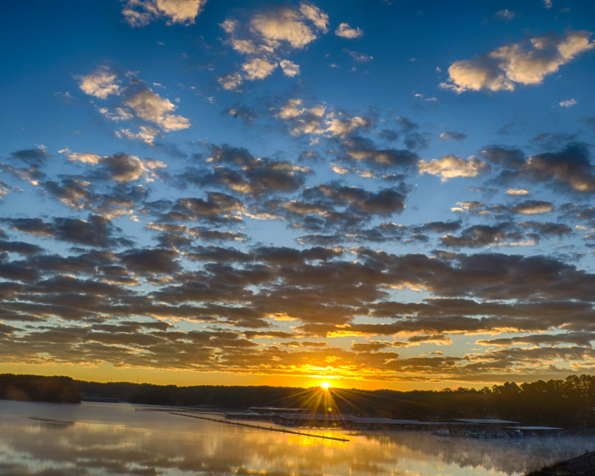 Sunrise this morning at Allatoona Pass