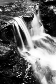 Waterfall at Cochran Mill Park, '96 or '97 on Kodak Tmax 100